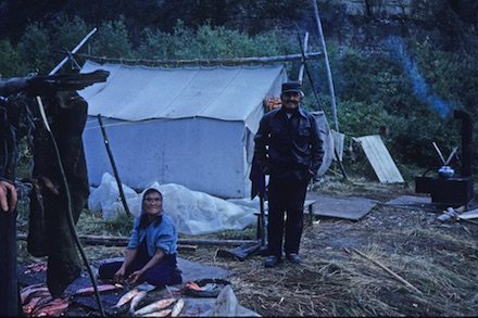 Sue-Doherty-MacKenzie-River-kayak-trip-First-Nation-couple's-camp